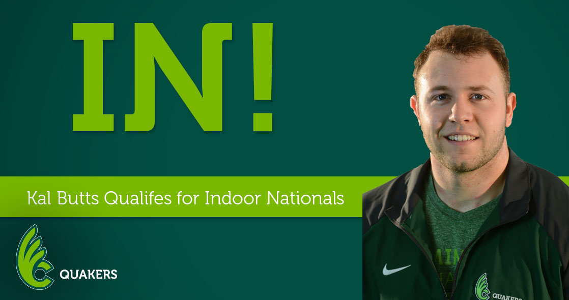 Kalvin Butts Qualifies for Indoor Nationals