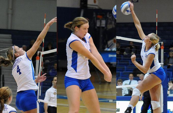 CCSU Places Three Players On All-NEC Volleyball Teams