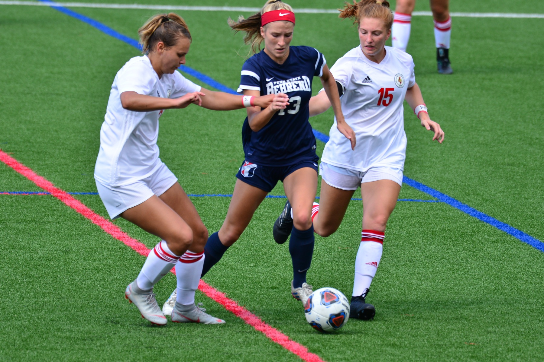 Strong Second Half Propels Women's Soccer Past Medaille