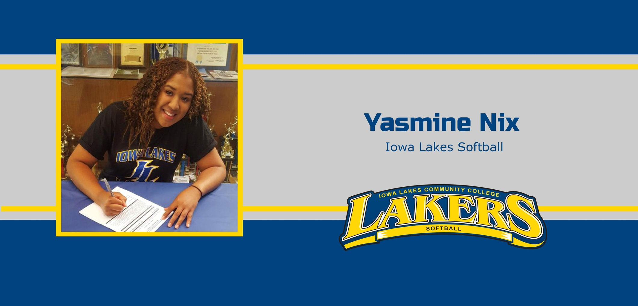 Iowa Lakes Softball Inks Yasmine Nix