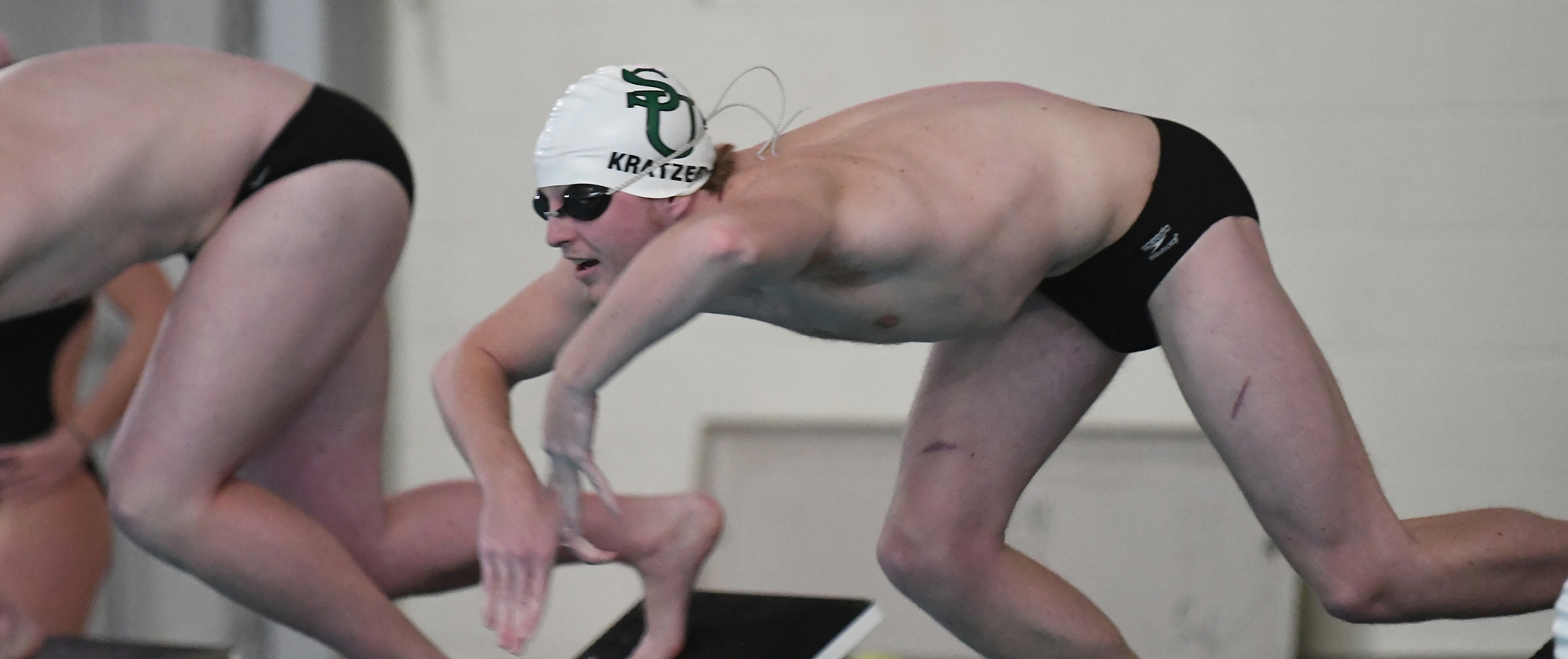 Men's Swimming Opens at MAC Championship