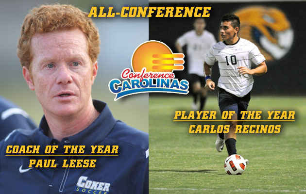 Coker Men's Soccer has Seven Receive All-Conference Honors, Leese and Recinos Lead the Way