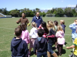 UCSB Women's Soccer Assists Elementary Students With Project