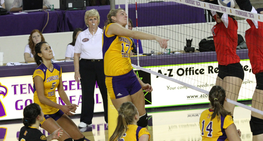 Golden Eagle volleyball team downed by Southeast Missouri in season finale