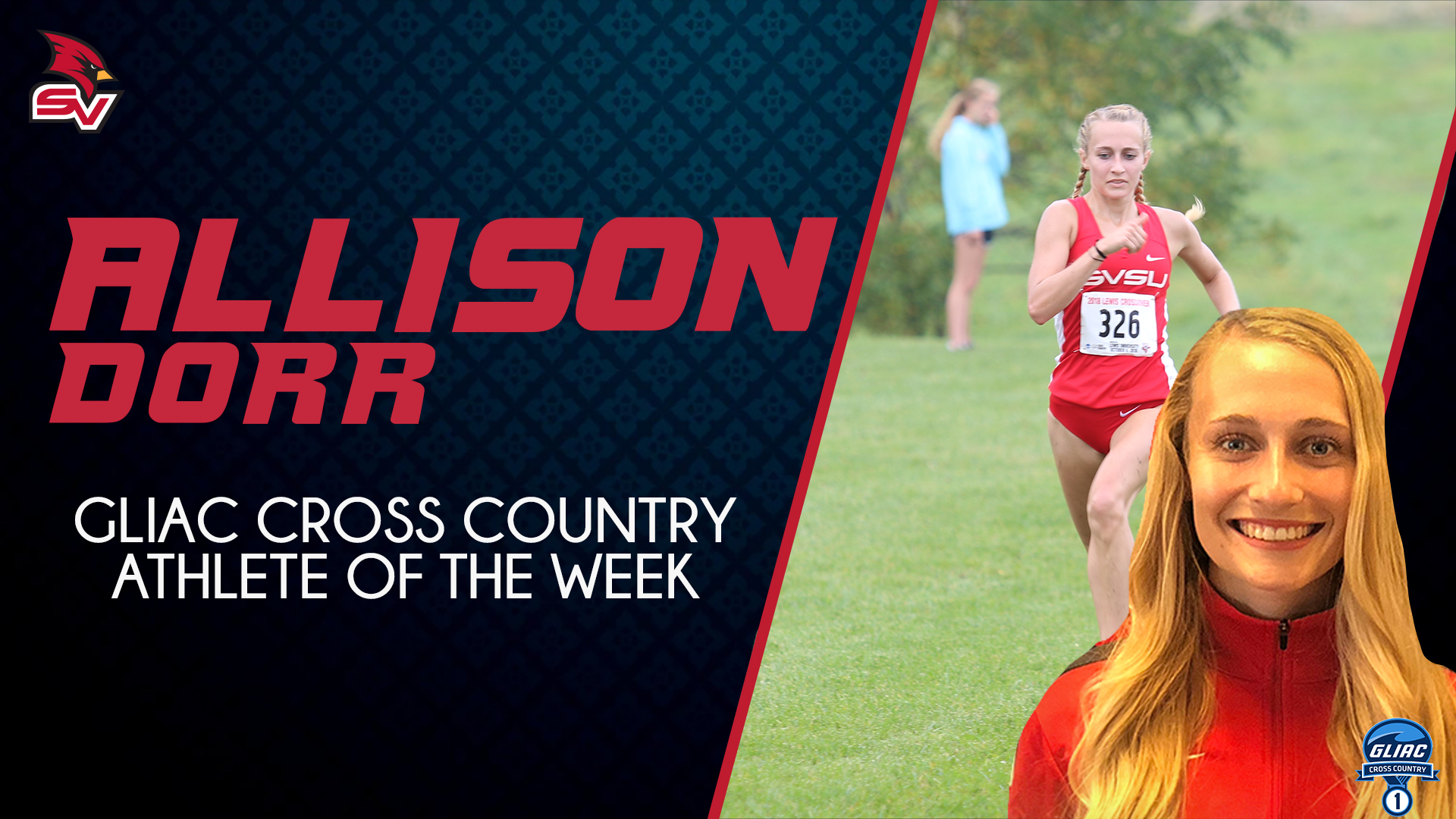 Allison Dorr Named GLIAC Cross Country Runner of the Week