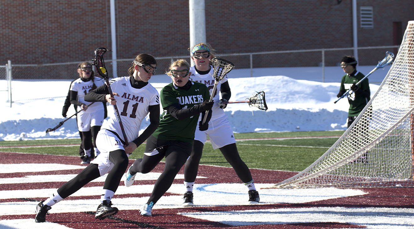Alma Women's Lacrosse defeats Wilmington (OH) 21-3 in home opener
