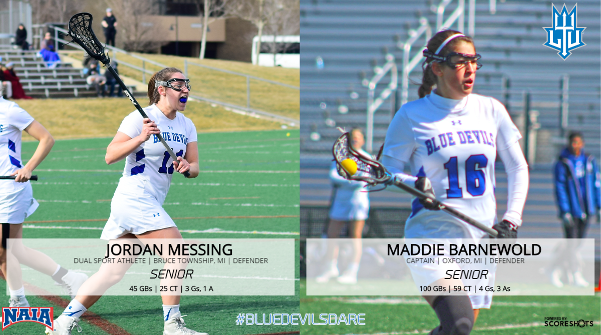 Women's Lacrosse Recognizes Seniors Messing and Barnewold Against Madonna at Home on Saturday