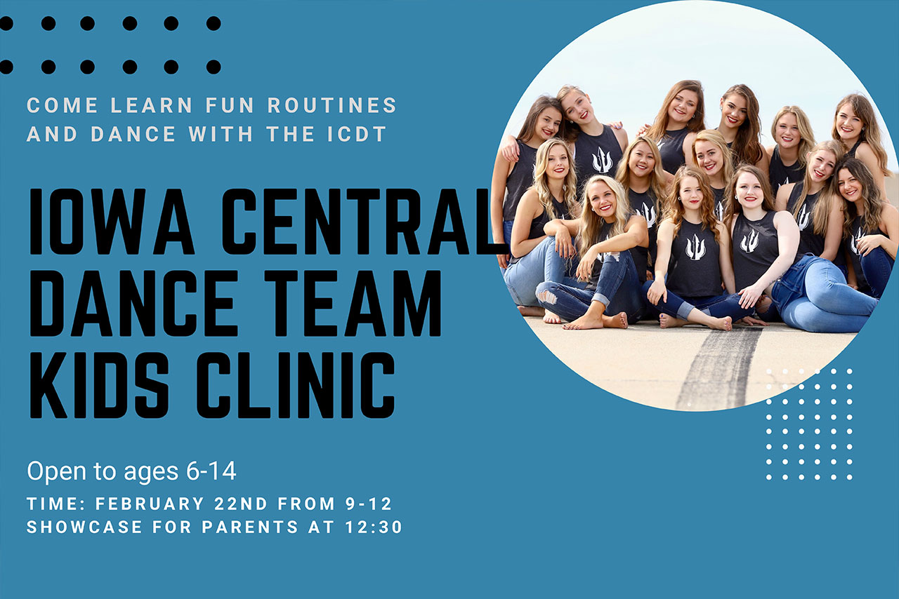 Iowa Central Dance Team to Offer Kids Clinic 2/22/2020