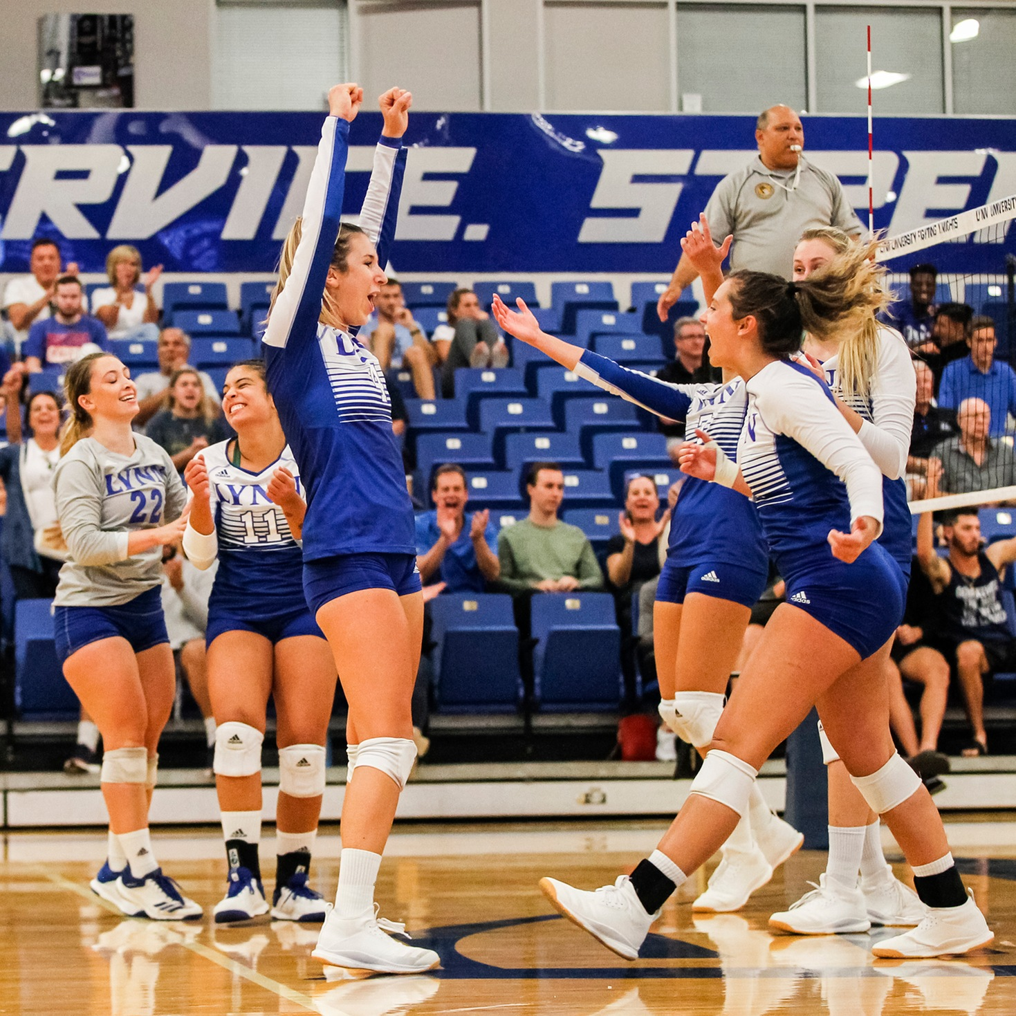 Lynn Volleyball Makes History in Win Over No. 23 Palm Beach Atlantic