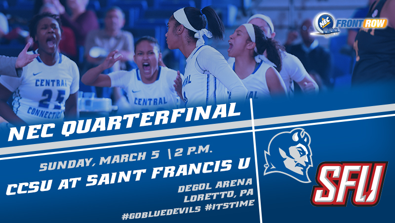 Women's Basketball NEC Quarterfinal Date Set at Saint Francis U on Sunday