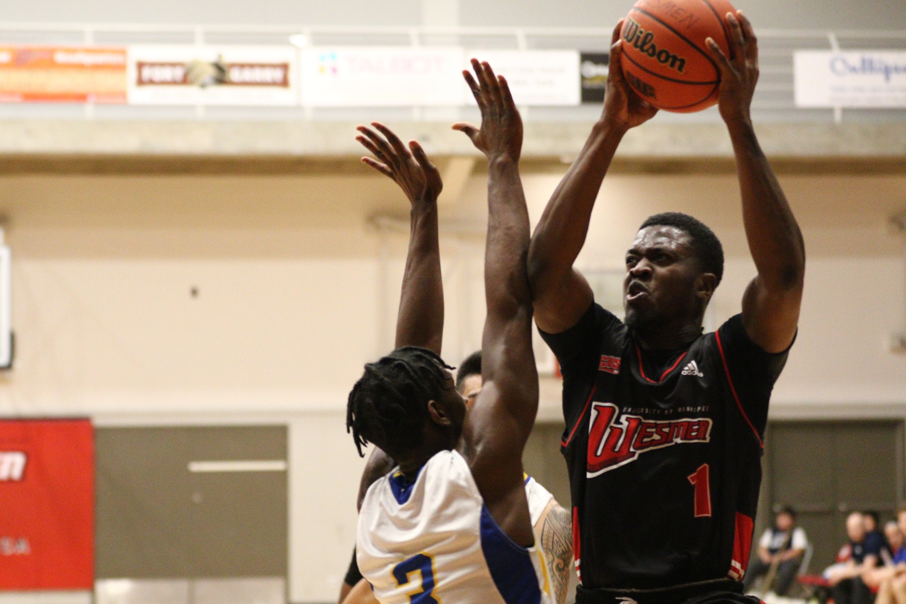 Denzel Lynch-Blair had 14 points and the Wesmen won for the sixth time in seven games Friday night. (David Larkins/Wesmen Athletics)