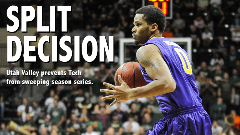 Tech men's basketball denied season series sweep at Utah Valley
