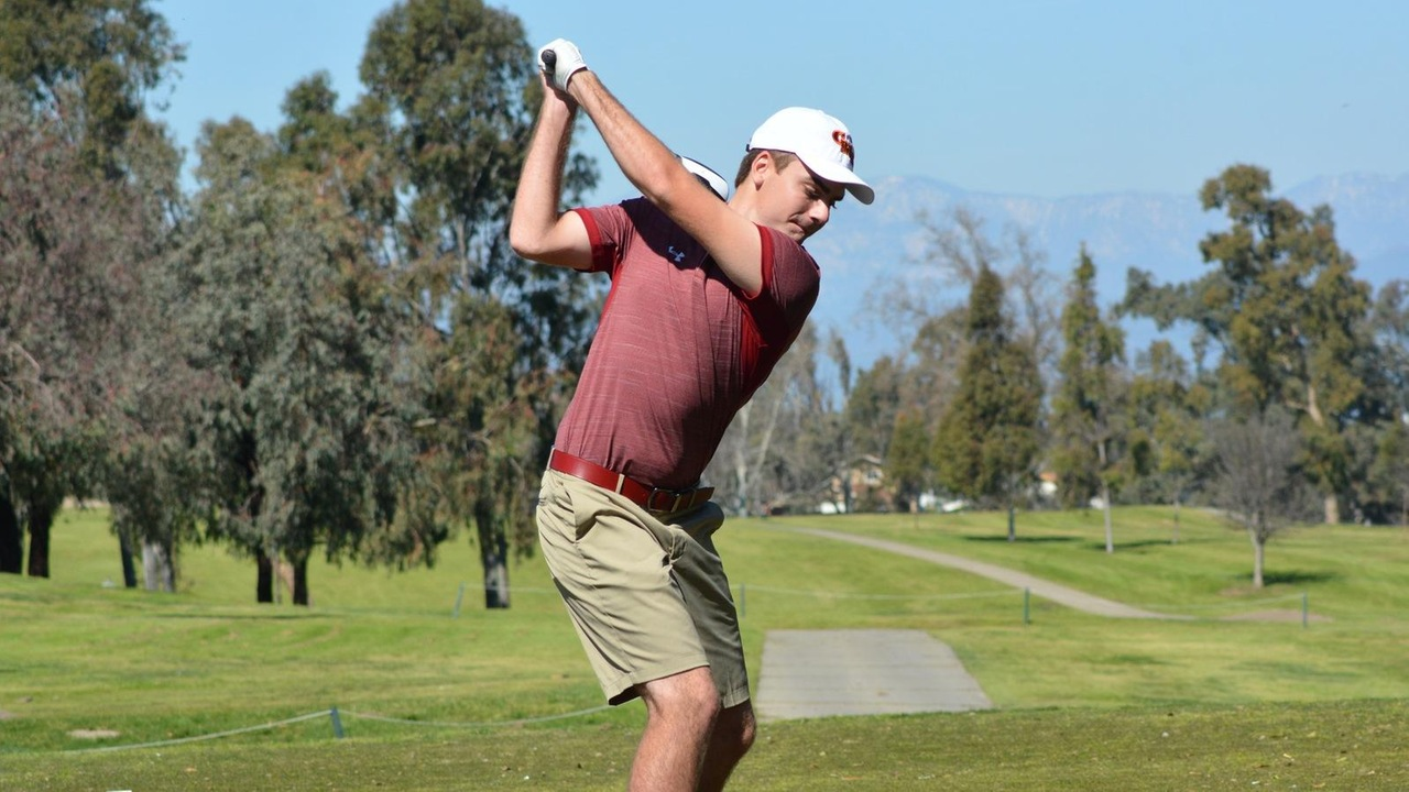 Austin Long tees off at one of the SCIAC regular season tournaments