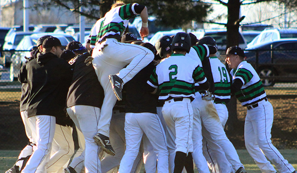 Jon Castro Hits Walk-Off Single As Wilmington Baseball Splits Doubleheader, 3-4 and 6-5, with Dowling
