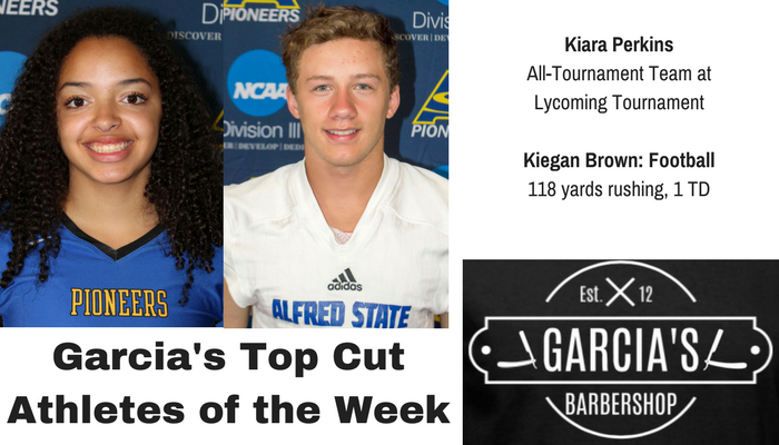 Kiara Perkins and Kiegan Brown Named Athletes of the Week