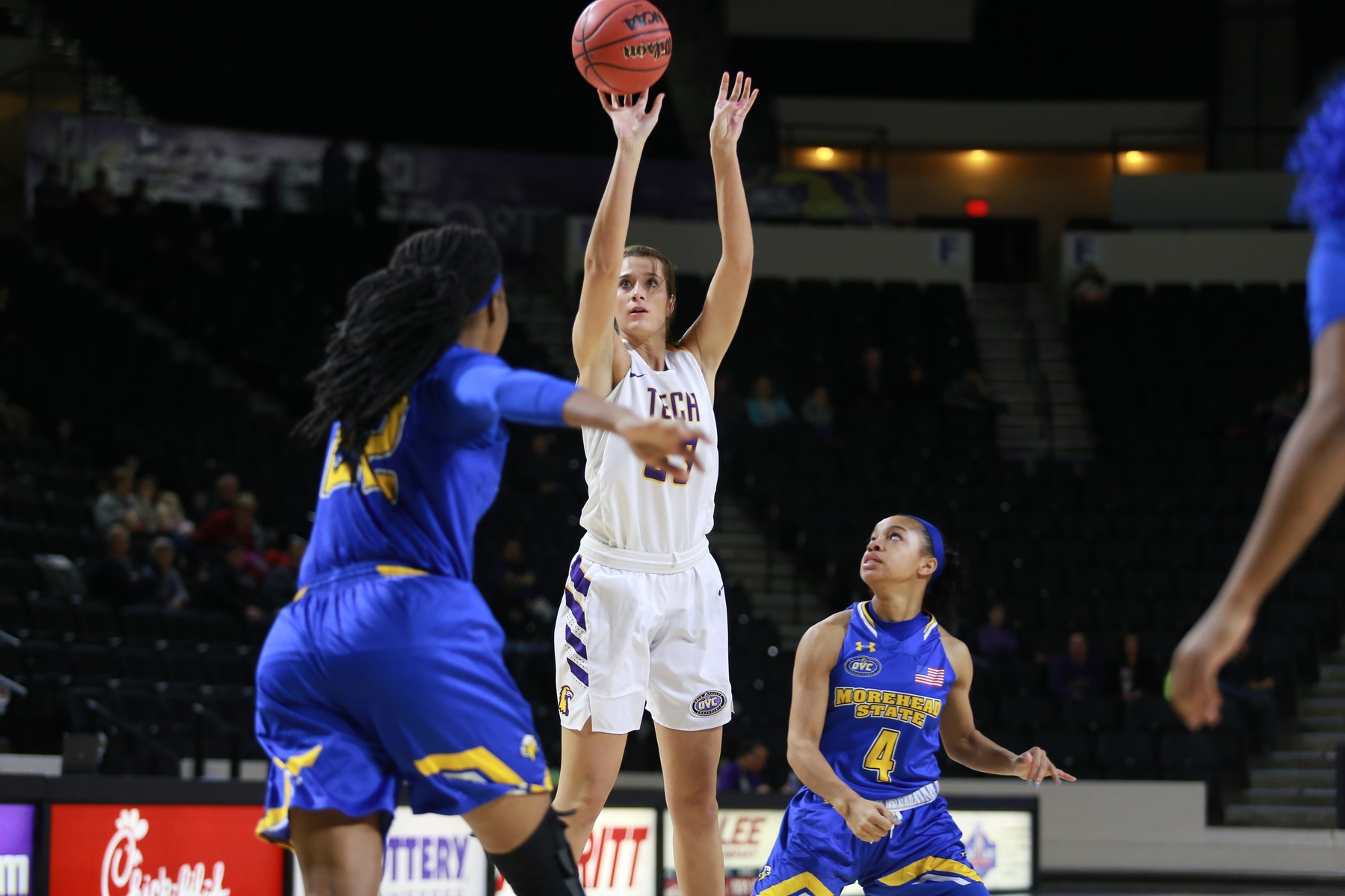 Tech shows promise in first OVC game versus Morehead State
