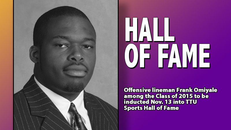 Frank Omiyale to be inducted into TTU Sports Hall of Fame Nov. 13