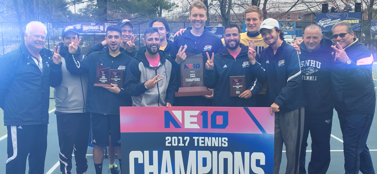 REPEAT: SNHU Wins NE10 Men's Tennis Title for Second Straight Season