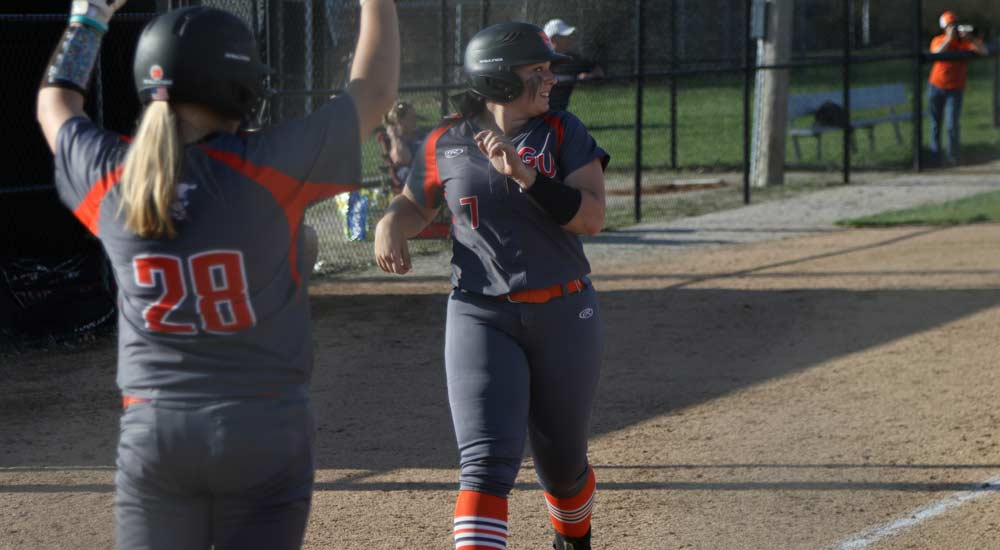 Softball unleashes offense against Principia