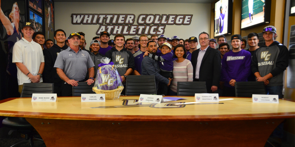 Whittier College Inks Joshua Esquivel on Team IMPACT Signing Day