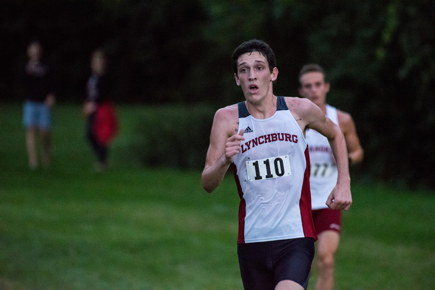 Andrew Johnson running in a cross country race