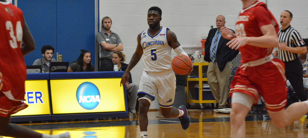 Men's Basketball Upended By Caldwell In CACC Opener, 80-74