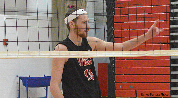 First Win Of Season For Wells Men's Volleyball