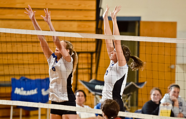 Volleyball Splits GNAC Tri-Match