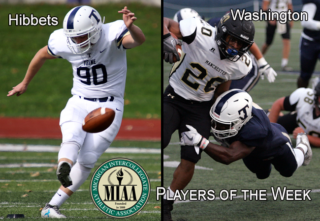 Washington, Hibbets Named MIAA Players of the Week