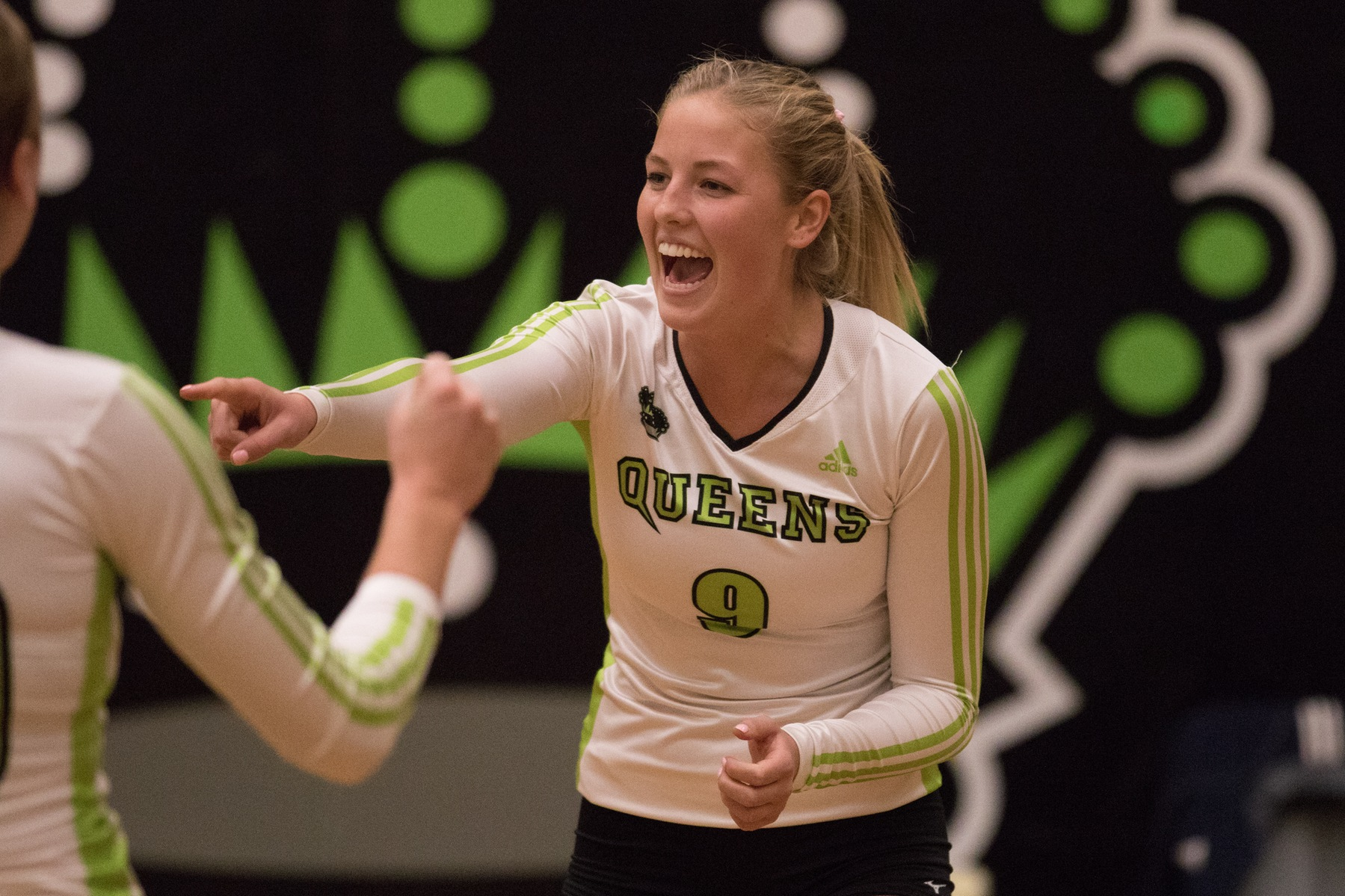 McKenna Barthel (9) contributed 9 kills and 6 digs against the Lions. Photo - Tony Hansen