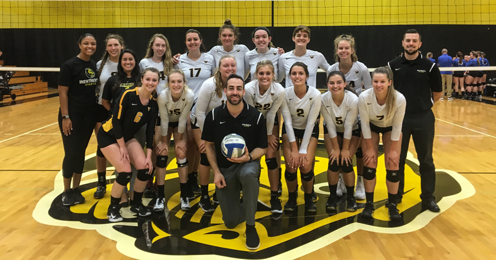 Women's Volleyball Downs Monks 3-0; Giglio Earns 100th Win