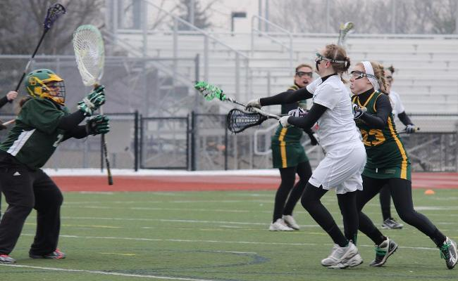 Senior Jennifer Burt scored three goals as the Keuka College women's lacrosse team knocked off Kalamazoo (Mich.) College 14-10 Wednesday.