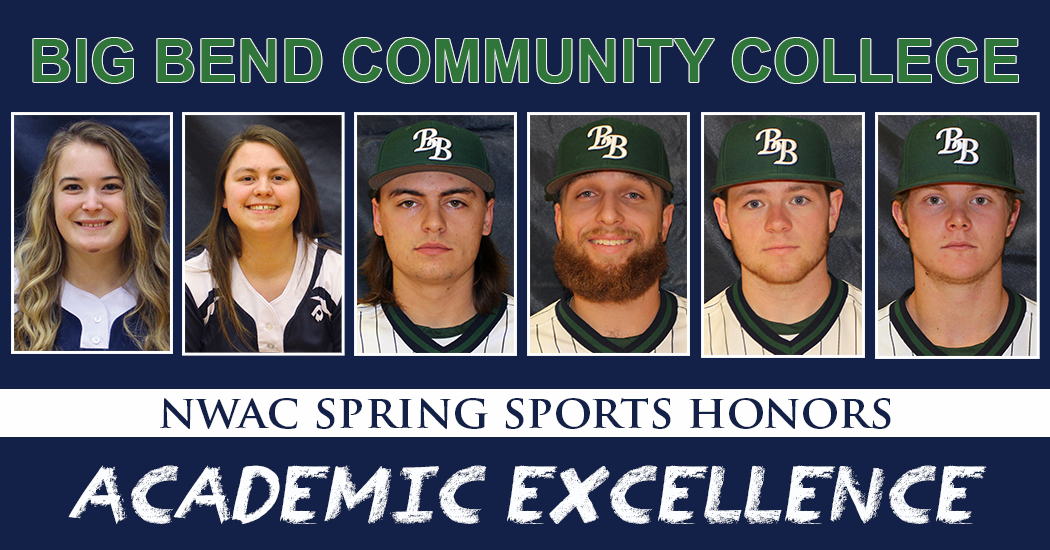Six Big Bend sophomore student-athletes were honored by the Northwest Athletic Conference for their academic achievement.