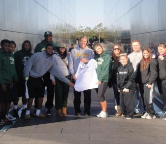 Members of Felician's SAAC pose during the 2011 North New Jersey Walk for Wishes at Liberty State Park.