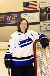 CUW Women's Hockey defeats Marian