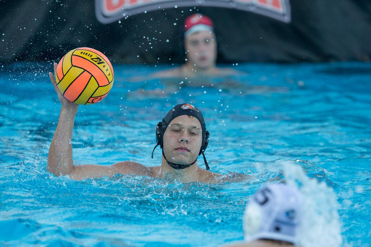 Ross Shines in Goal for Men's Water Polo Versus No.7 Cal Lu