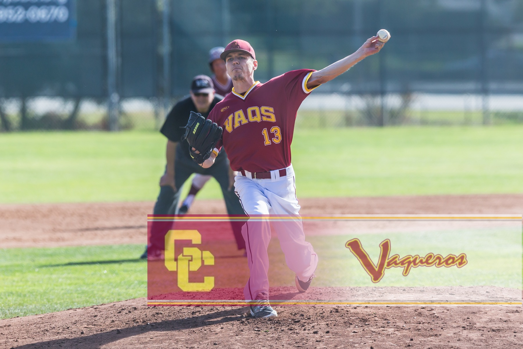 Chris Davidson pitches eight strong innings in Vaqs 9-6 win over Long Beach Feb. 28.