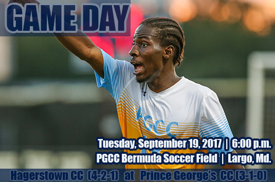 Eighth-Ranked Prince George's Men's Soccer Hosts Hagerstown On Tuesday Night