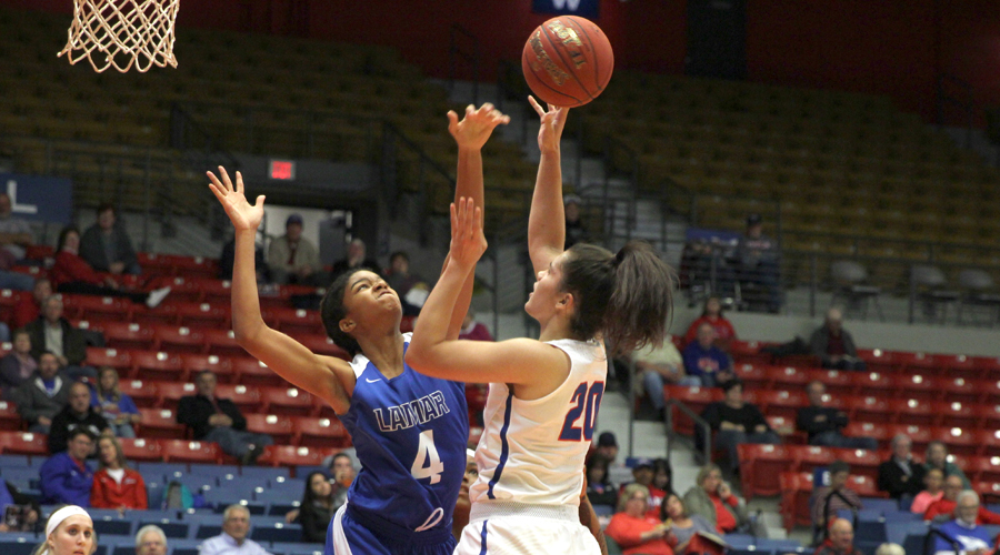 Keely Tini scored 10 points off the  bench in No. 13 Hutchinson's 81-45 Jayhawk Conference win on Wednesday at Coffeyville (Casey Bailey/Blue Dragon Sports Information)