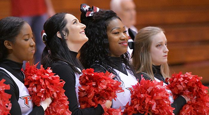 The Eagles will hold cheer tryouts Aug. 4, 2018. (Photo by Tom Hagerty, Polk State.)