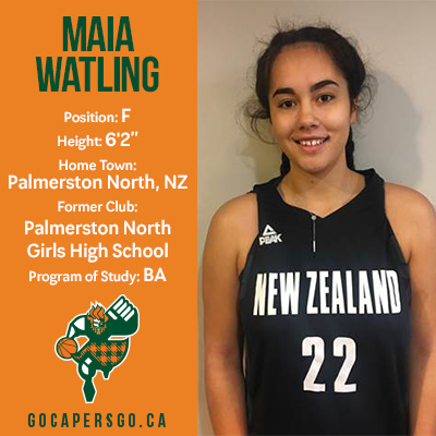 WBB: Maia Watling joins CAPERS