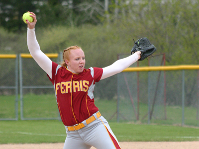 Dana Bowler pitched a one-hit gem in a shutout home win over Lake Superior State in Friday's twinbill opener.