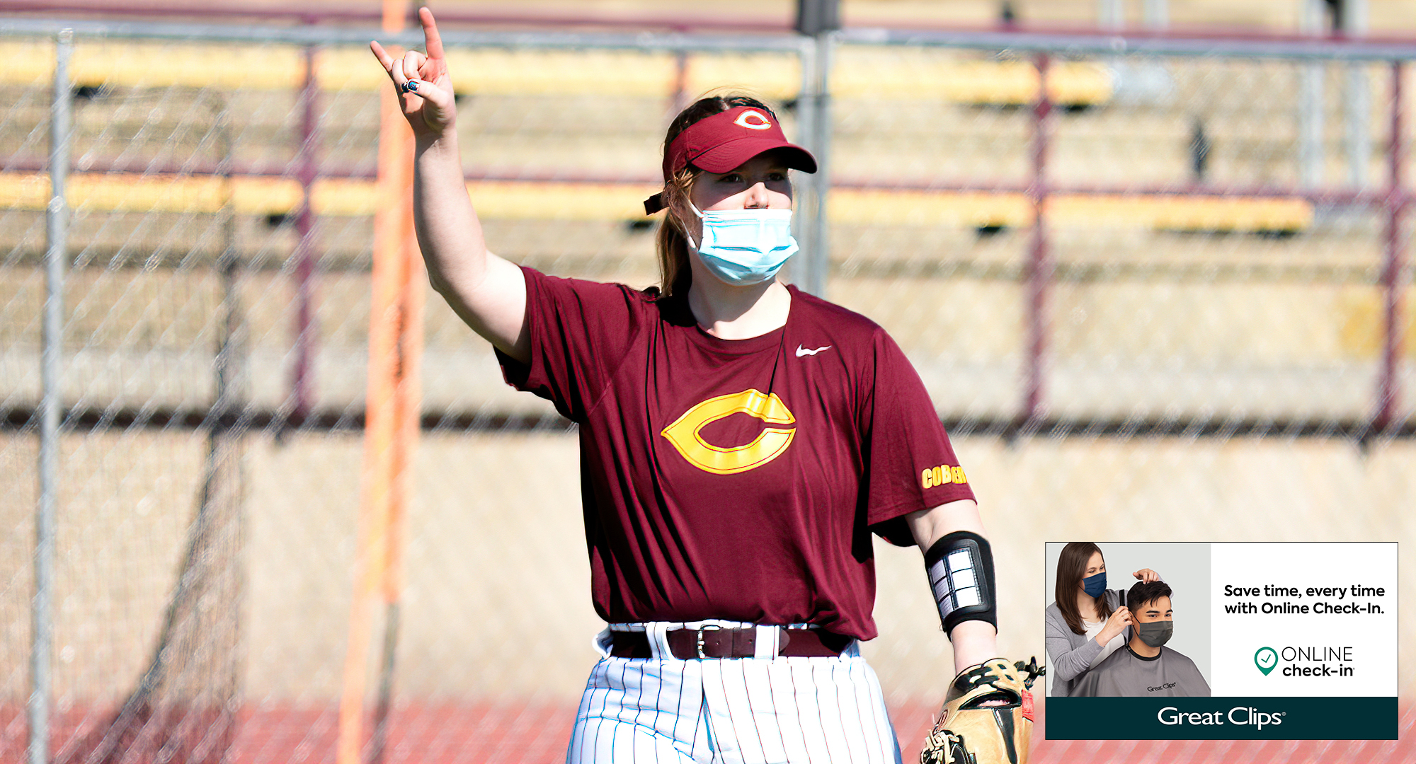 Senior Taylor Erholtz had a double in each of the Cobbers' two games with Wis.-Superior. She was the only CC player with a hit in each of the 5-1 decisions.