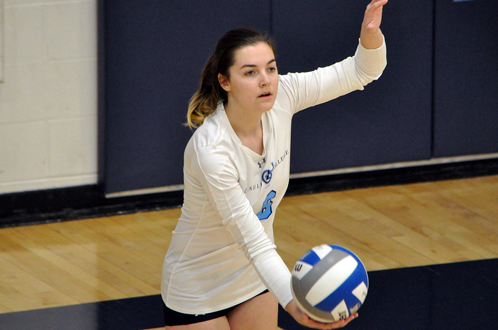 Lasell Women's Volleyball sweeps Bridgewater State