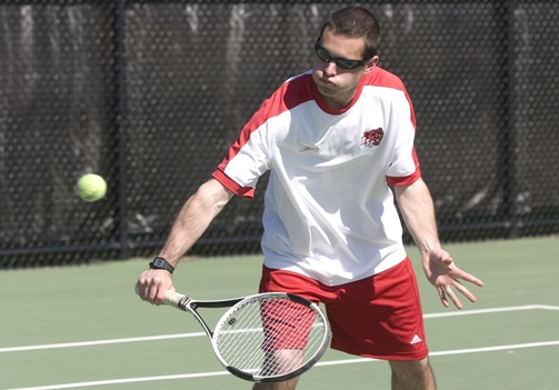 Men's Tennis Downs UMass to Win 5th Straight Match