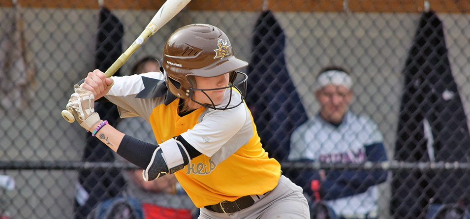 Macy Leach combined for five hits in the two games,  (Photo Courtesy of Jeff Boledovic)
