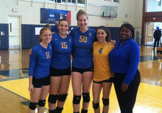 WOMEN'S VOLLEYABLL HONORS SENIORS IN FINAL GNAC TRI-MATCH