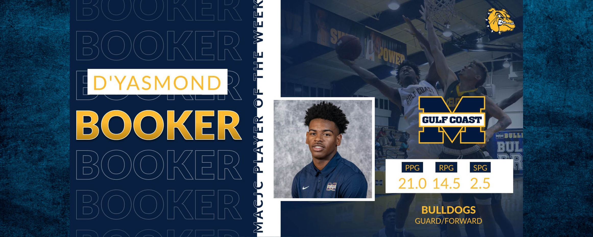 Booker named MACJC Player of the Week