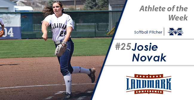 Josie Novak '18 named as the Landmark Conference Softball Pitcher of the Week.