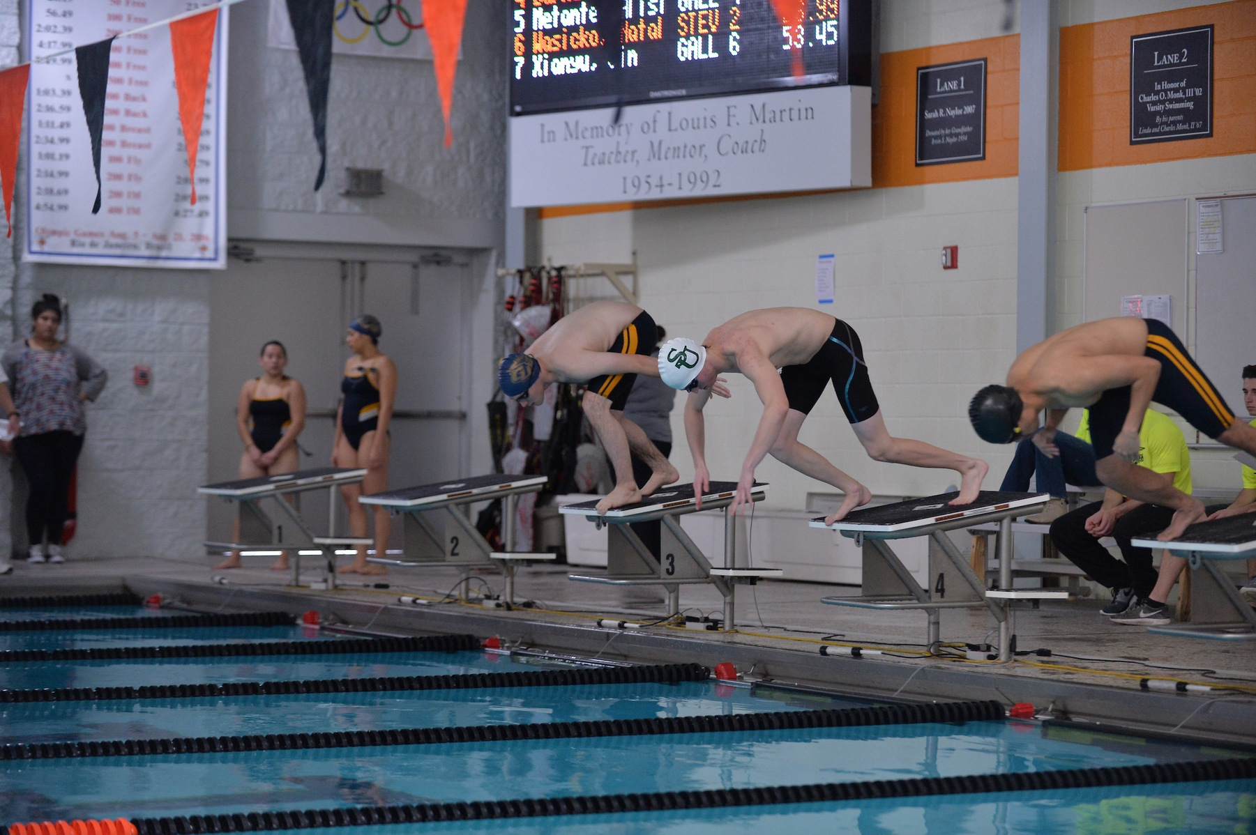 Kratzer Leads Men's Swimming in Loss to Hood